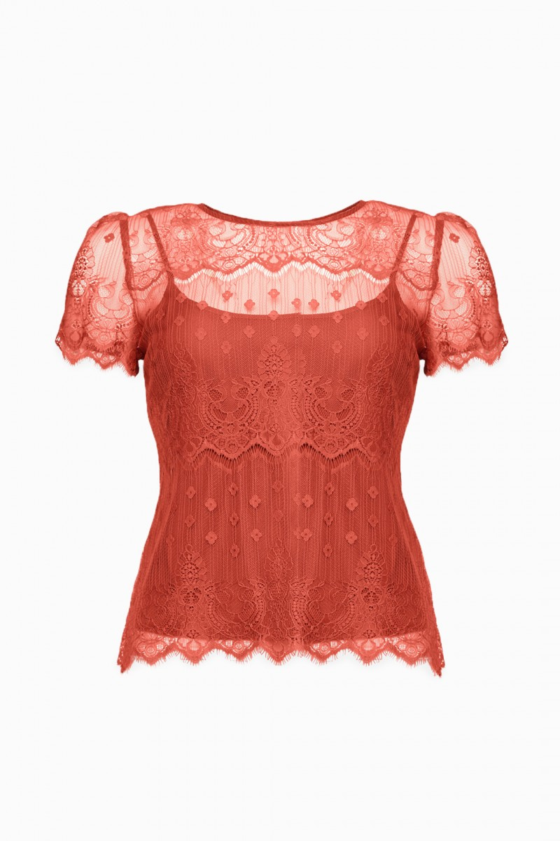Wrapped In Lace Top